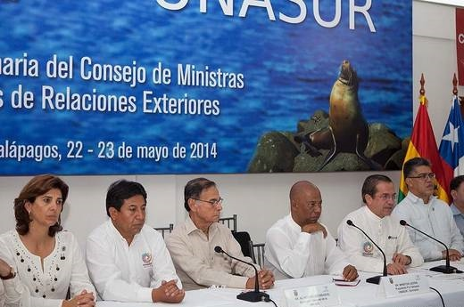 Unasur foreign ministers during their press conference (EFE)