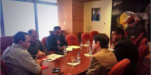Airline representatives in discussion in Venezuela. (@RMarcoTorres)