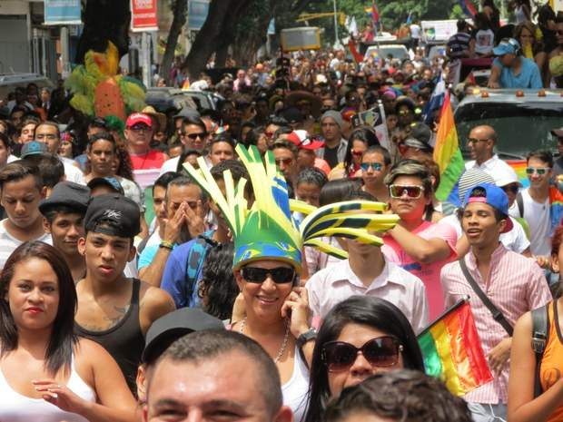 Venezuelans march in the 14th annual Pride Parade in Caracas. (VTV)