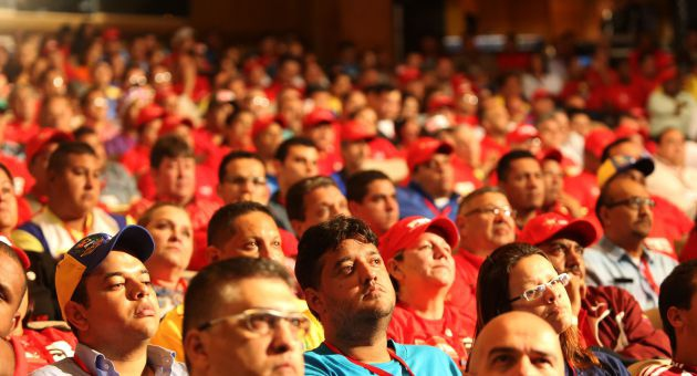 Delegates at the III PSUV National Congress, which is currently underway in Caracas (AVN)