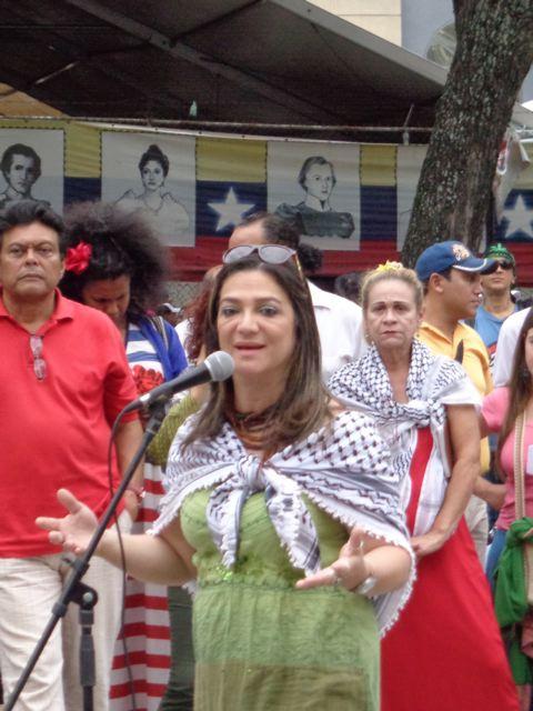 """Hindu Anderi says """"Our solidarity is not enough."""" (Arlene Eisen/Venezuelanalysis)"""
