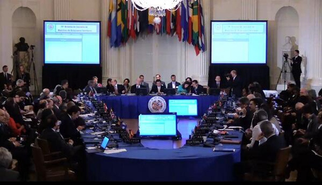 The Organization of American States (OAS) has declared its solidarity with Argentina in its sovereign debt dispute with a U.S. based hedge fund. (Venezuelan foreign ministry)