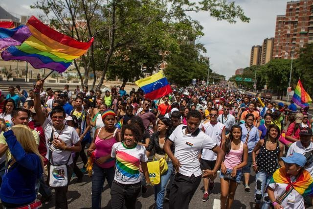 Venezuelans march in the 14th annual Pride Parade in Caracas, on 29th June this year. (MIGUEL GUTIÉRREZ / EFE)