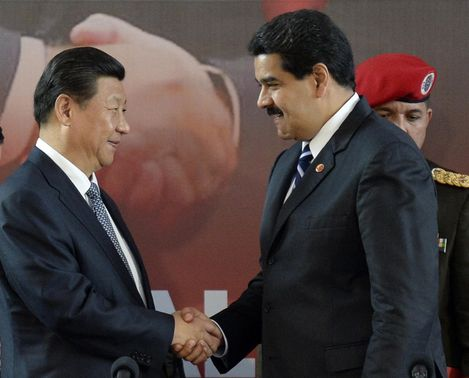 The new agreements were signed publically by Venezuelan president Nicolas Maduro and Chinese president Xi Jinping in Caracas yesterday (AFP)