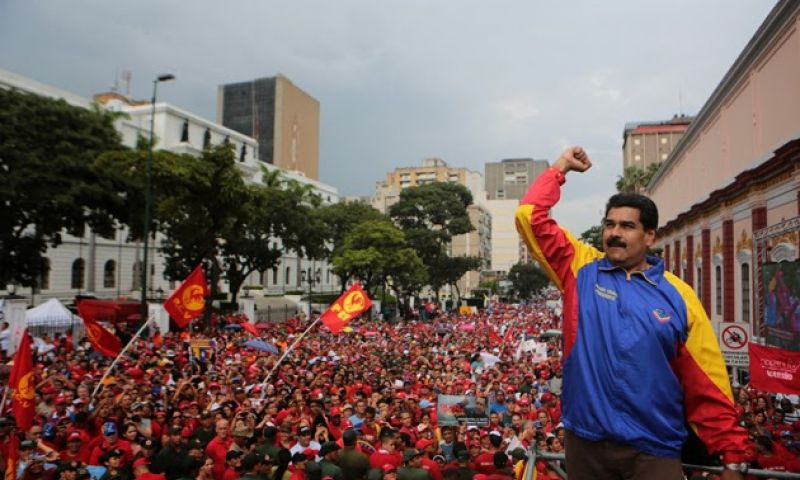 Maduro at a political rally (Mision Verdad)