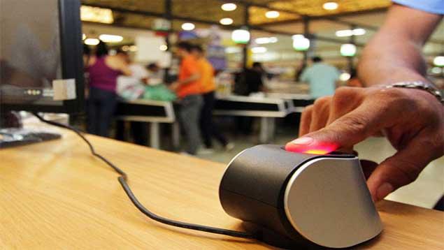 A biometric scanner. (quepasa.com)