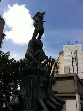 The monument to the fallen on Llaguno bridge (Photo: Cory Fischer-Hoffman, Venezuelanalysis.com)