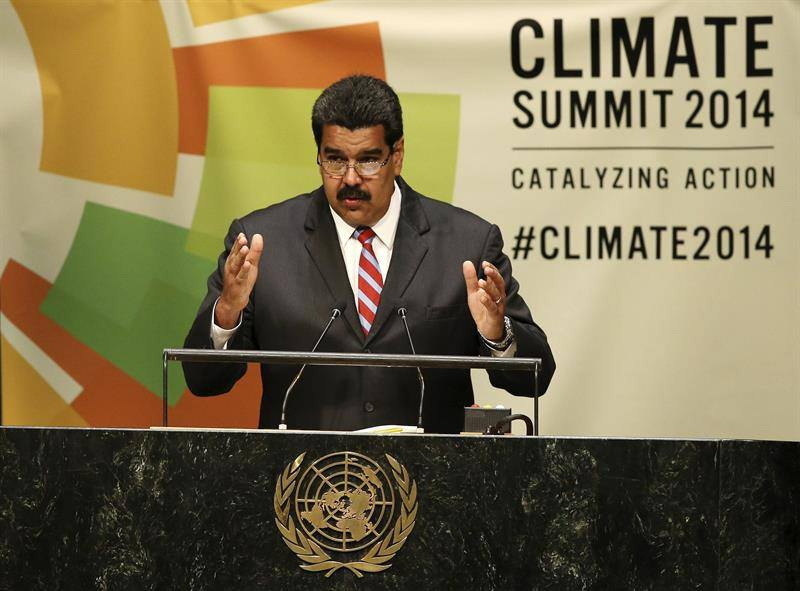 Venezuelan president Nicolas Maduro addressing the United Nations 69th General Assembly summit on September 23rd, 2014. (TeleSUR)