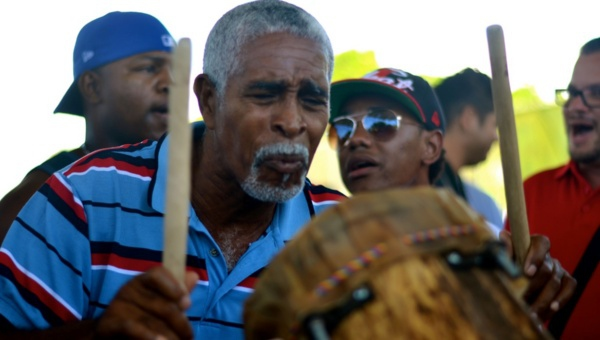 Palacios was the first drum maker in his community (teleSUR/Rachael Boothroyd)