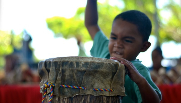 Percussion as used for anger management! (teleSUR/Rachael Boothroyd)
