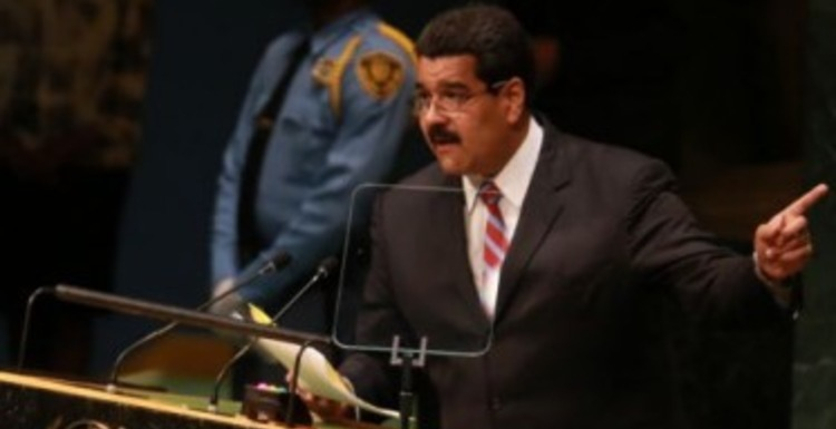 Venezuelan president Nicolas Maduro addressing the United Nations General Assembly (agencies)