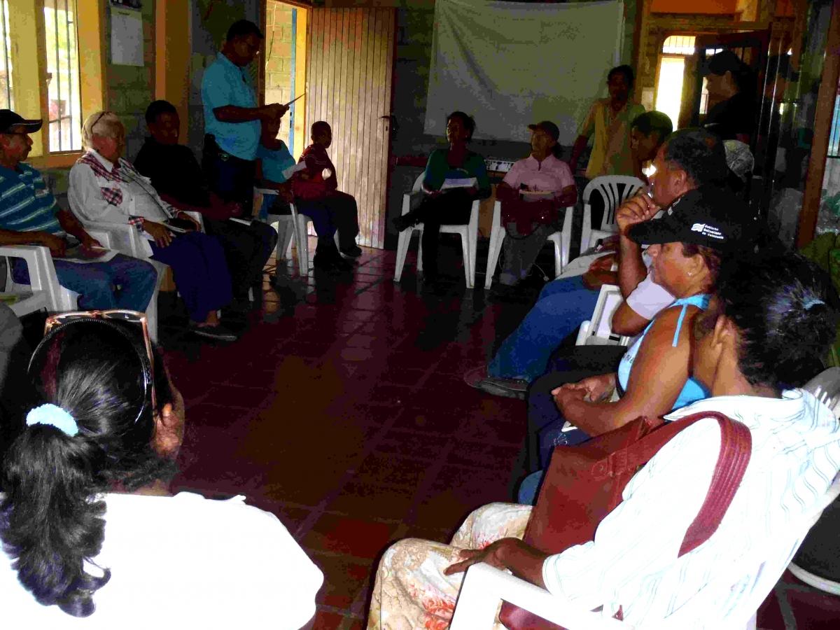 (Photo: Didi Ananda Sadhana) RPLA meeting in Centro Madre, San José de Barlovento.