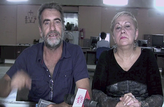 """Roland Dennis and Fresia Ipinza announce the takeover of lands by the """"Land and Liberty"""" commune in the state of Guárico (Apporea.org)"""
