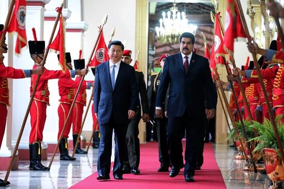 Chinese presient Xi Jinping with Nicolas Maduro in Caracas, Venezuela, in July (Xinhua/Zuma Press)