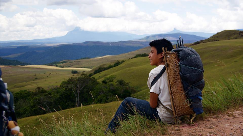 A pemon boy rests on the way to Mt. Roraima. (Benjamin Mast)