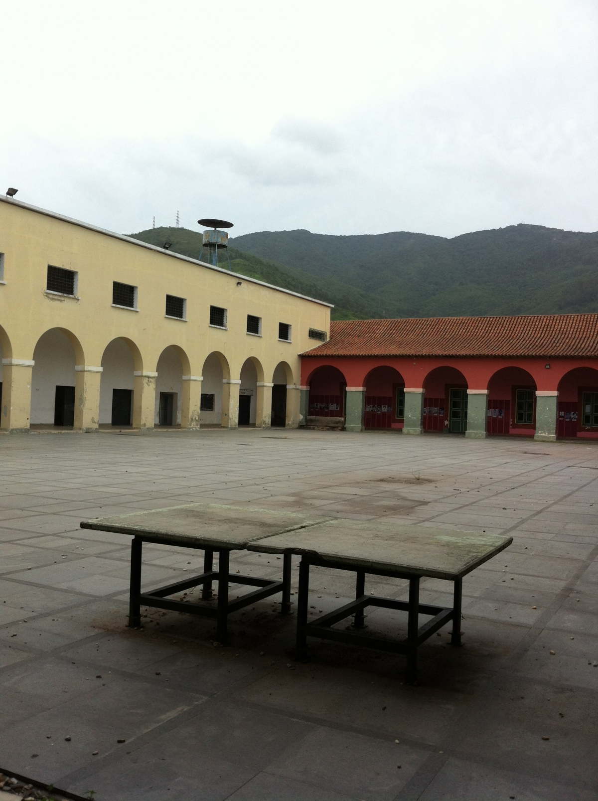 The courtyard of the former San Carlos prison, very different from how it looked when it was home to hundreds of political dissidents.  Afro-Venezuelan abolitionist and independence leader was murdered in that courtyard on December 10, 1796.
