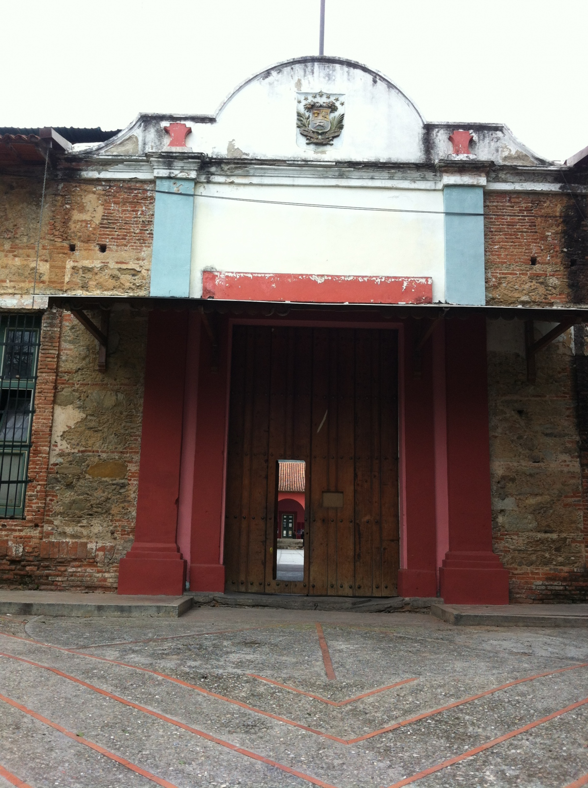 The entrance to San Carlos, with some of its features dating back to its construction in 1771.