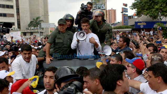 Leopoldo Lopez was arrested on 18 February, one week after an opposition demonstration descended into deadly clashes and damaged property in central Caracas. (Edixon Gámez)