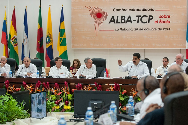 The ALBA trade bloc held an extraordinary summit meeting on Monday to coordinate a response to the ebola virus. (AVN)