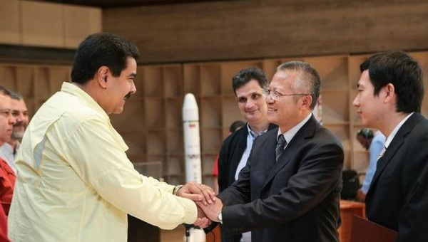 President Nicolas Maduro and China Great Wall Industry Corporation executives (Photo: AVN)