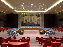 The UN Security Council chamber in New York (Wikipedia)