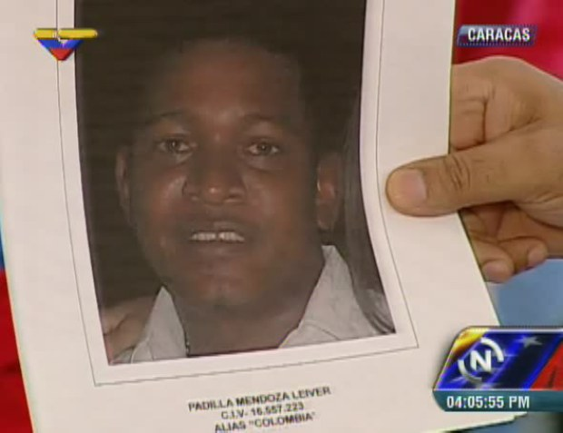 """Mendoza, alias """"El Colombia"""", was captured in Cartagena, Colombia last Wednesday under a request by Interpol. (VTV screenshot)"""