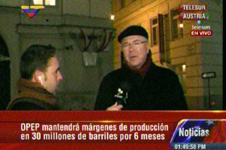 Rafael Ramirez in Vienna (VTV screenshot)