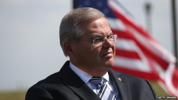 "Senator Robert Menendez said the bill was an ""unequivocal message"" to the Venezuelan government (Getty Images)"