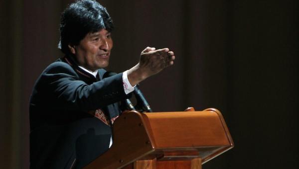 Evo Morales closing the 13th ALBA summit on Sunday. (Photo: Cubadebate)