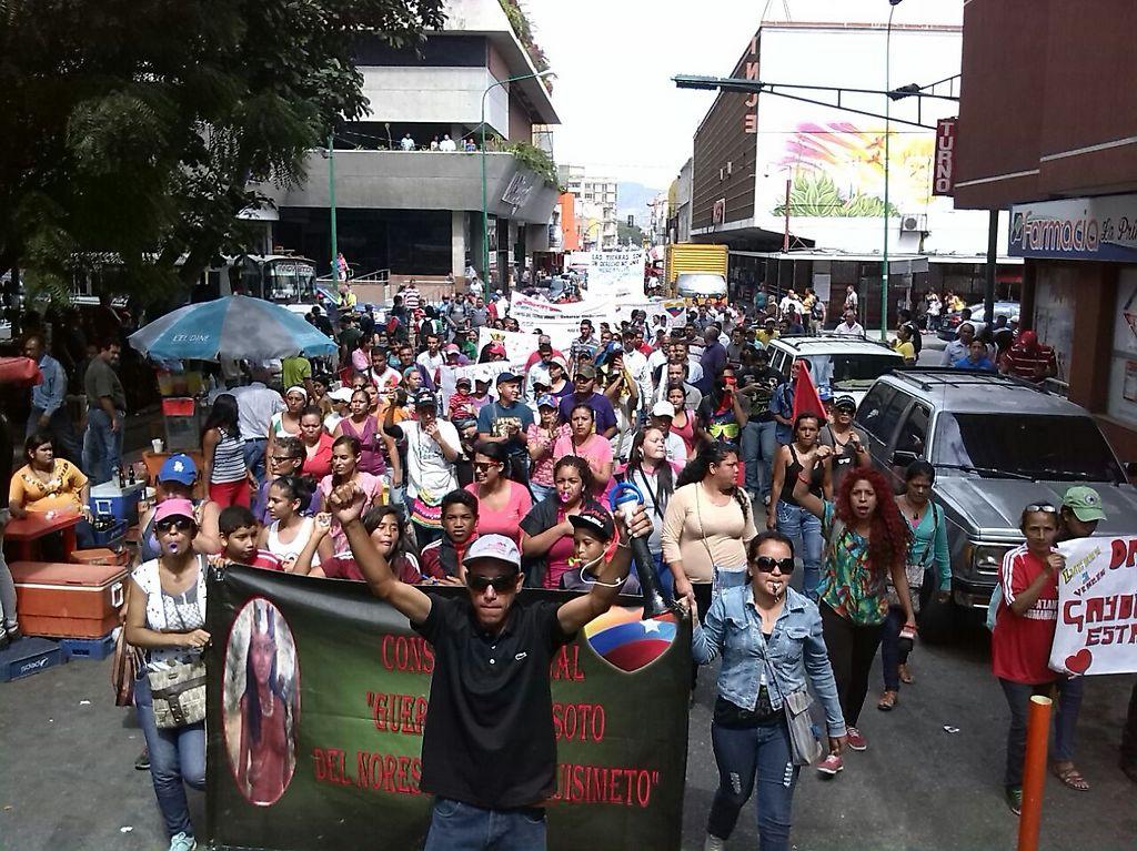 Protestors call for David Diaz's release. (Comunidad Socialista Guerrera Ana Soto)