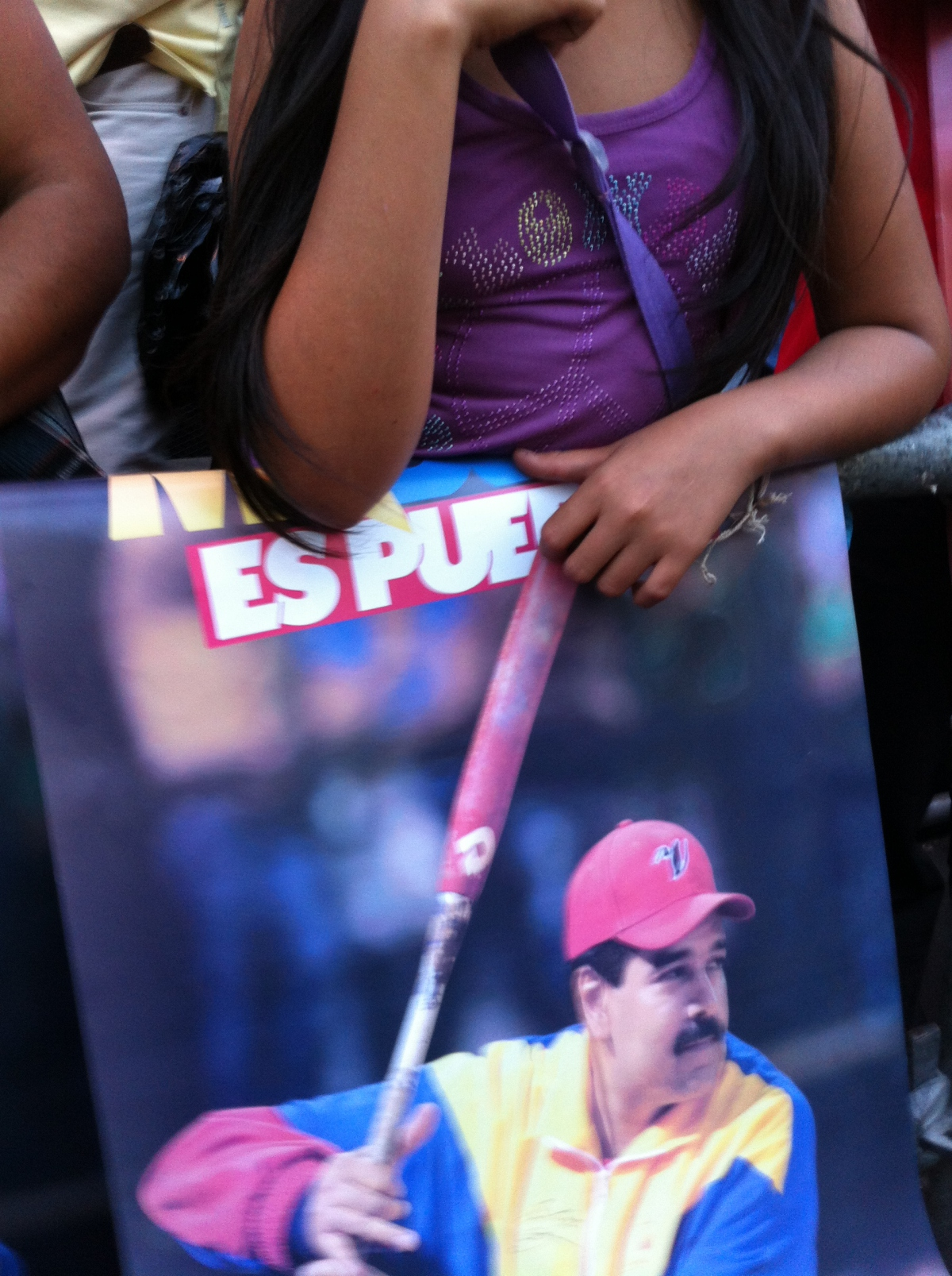 """""""Maduro is of the People!""""(PHOTO: Cory Fischer-Hoffman)"""