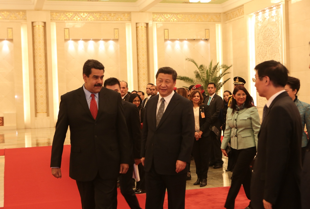 Nicolas Maduro and Xi Jinping in Beijing on Monday. (AVN)