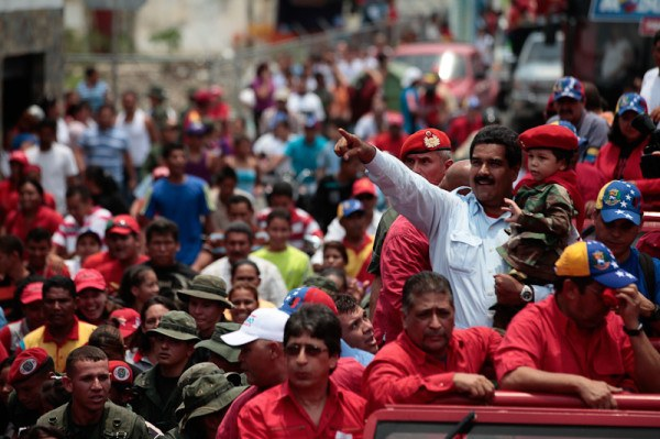 Maduro during the April 2013 elections (In Defence of Marxism)