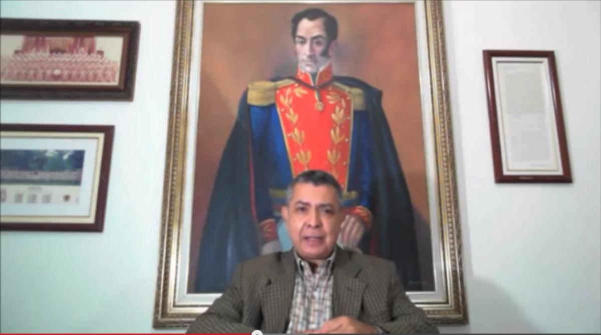 "General Vivas told Venezuelans to prepare for a ""war to the death"" (Photo - screen shot)"