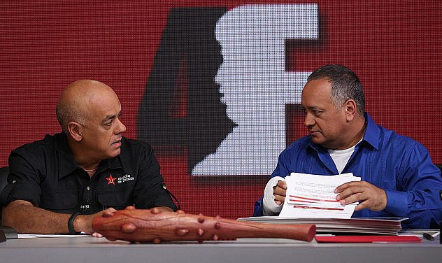 "National Assembly President Diosdado Cabello and Caracas Mayor Jorge Rodriguez claim that there are ""very few opposition leaders who didn't know anything about [the coup]."" (Credit: @ANPRENSA)"