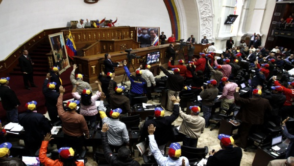 "The new Anti-Imperialist Enabling Law for Peace"" was formally approved by a 60% majority of Venezuela's parliament in an extraordinary session on Sunday. (Credit: AVN)"