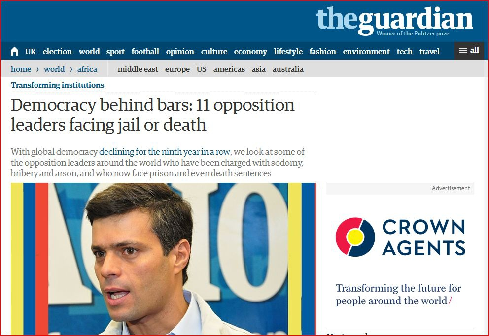 The article published by the Guardian (HandsOffVenezuela)