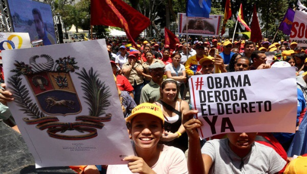 "President Obama's Executive Order has provoked a worldwide petition campaign that has mobilized global civil society against the widely unpopular decree branding Venezuela a ""national security threat"". (Credit: TeleSur English)"