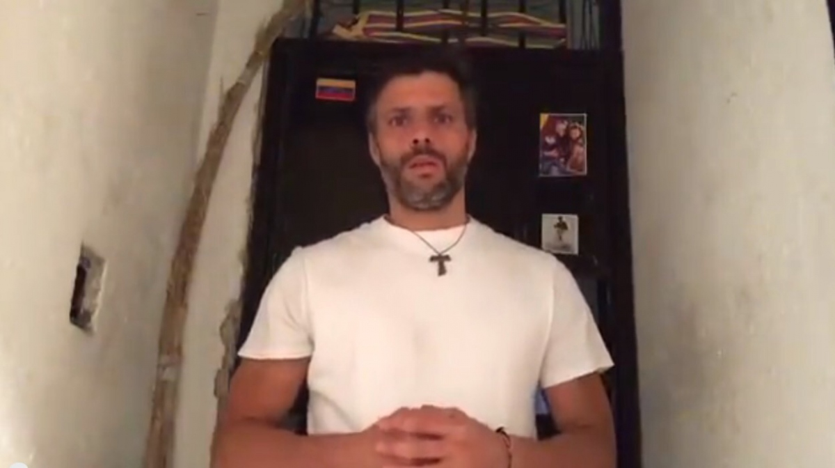 Leopoldo Lopez released the video on Saturday night (screen shot/Leopoldo Lopez)