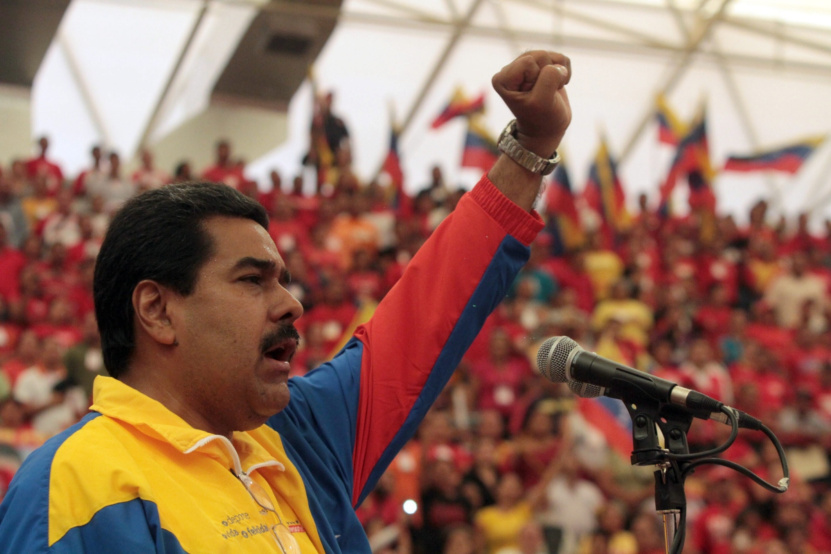 Nicolas Maduro at a Chavista rally (Credit: Ministry of Communication)