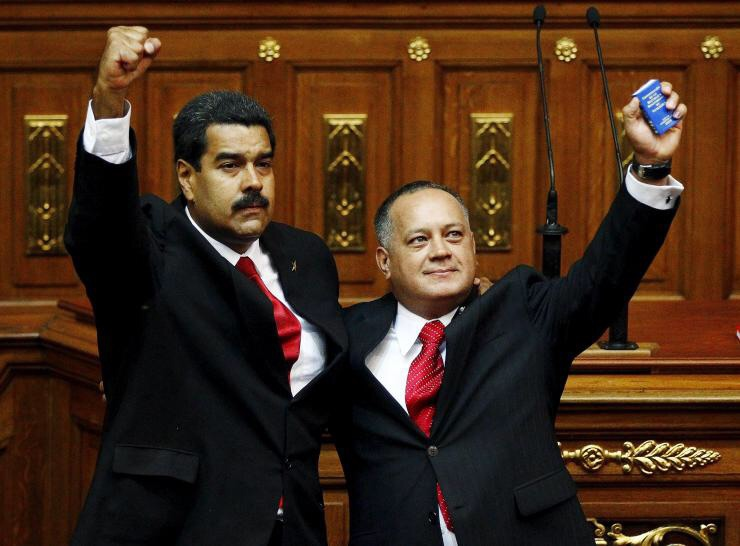 Venezuelan President, Nicolas Maduro, vowed to back Cabello against what he labelled international right-wing attacks (Reuters)