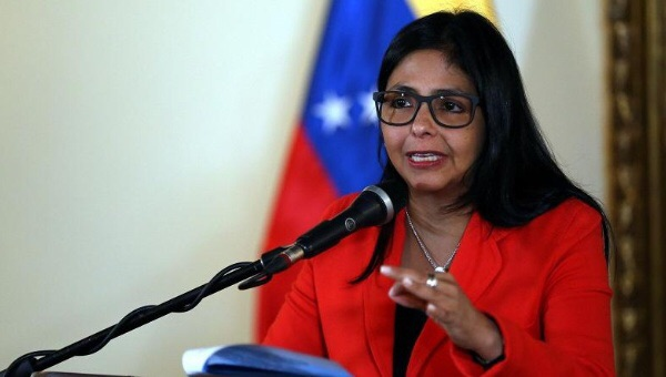 Venezuelan Foreign Minister Delcy Rodriguez responds to the government of Guyana over disputed territory, Caracas, Venezuela June 9, 2015. (Credit: AVN)