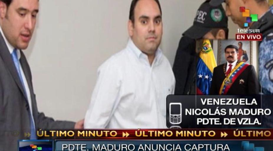 González was arrested by Venezuelan authorities on Wednesday morning (Telesur)