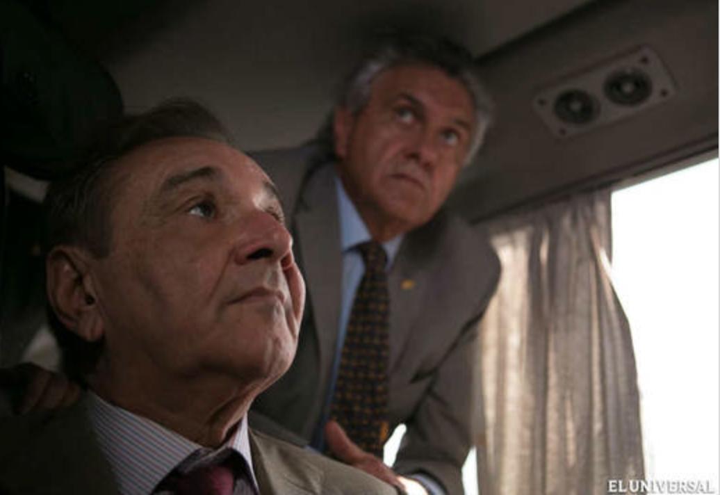 Rightwing Brazilian senators aboard a bus in Venezuela (EFE)