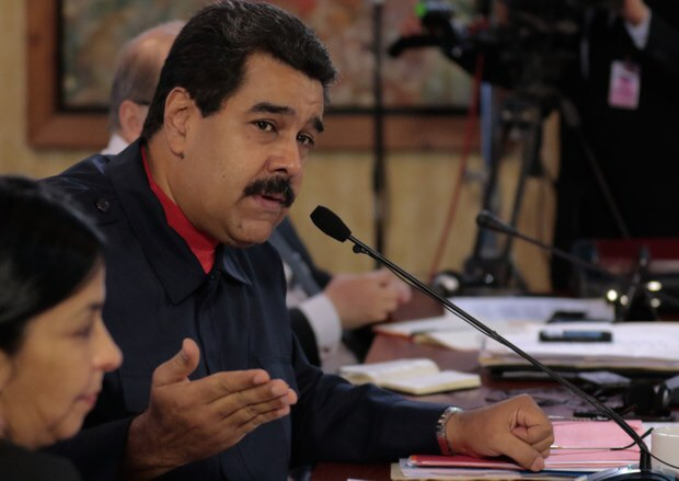 President Nicolas Maduro during the ALBA trade bloc meeting on Monday, in Caracas. (Presidential Press)