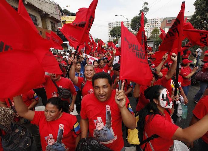 Supporters of late president Hugo Chávez. (AVN)
