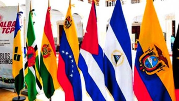 The flags of the ALBA member states. (Photo: Andes)