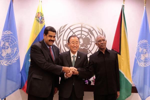 Venezuelan President Nicolas Maduro and his Guyanese counterpart David Granger agreed to mediation on Sunday (CorreodelOrinoco)