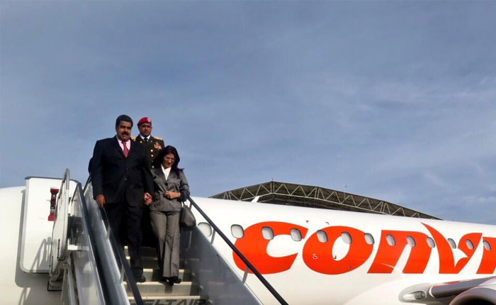 Maduro arrives in New York with Cilia Flores (PrensaPresidencial)