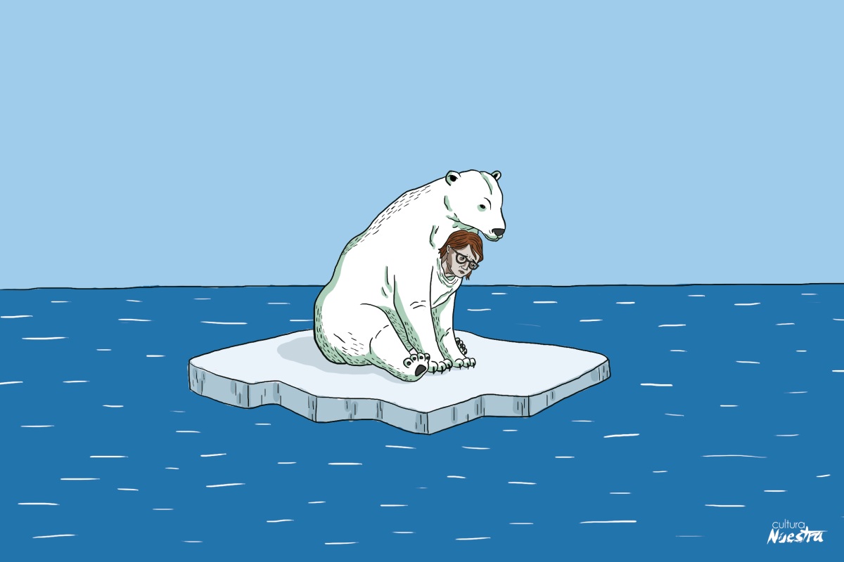 The polar bear is the symbol for Polar enterprises, one of the largest monopolies in Latin America dominating over half the country's beer production. (Cesar Mosquera)